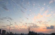 万里长江第一城今天的夕阳很美呀!
