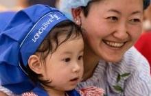 第二人民医院的宝爸宝妈与孩子的《甜蜜时光