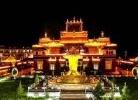甘孜白塔寺的夜色隨拍