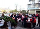 江油大地书法协会写春联,送祝福活动纪实。