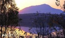 日落紫山(西屏风光)