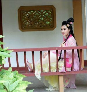参加江油乔影化妆培训艺术学校古装拍摄活动