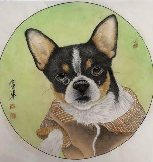 闲来莫事给我家爱犬画一下
