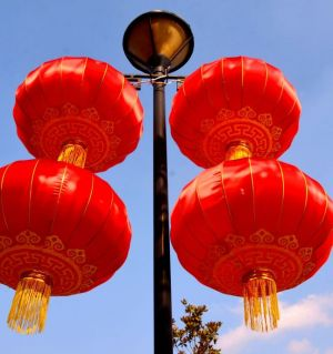 红灯高照迎新年