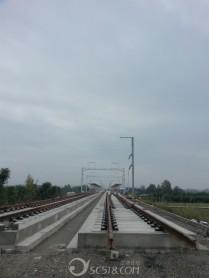 建设中的青莲火车站!
