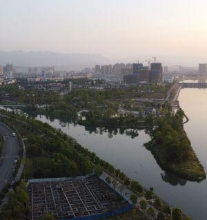 江油涪江三桥片区的城市建设