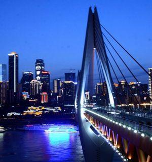 山城夜色-东水门大桥掠影