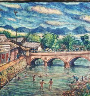 岳父50年代的中坝近郊写生画