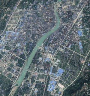 换个角度看江油 - 卫星图展示江油城区从1985年以来的变化